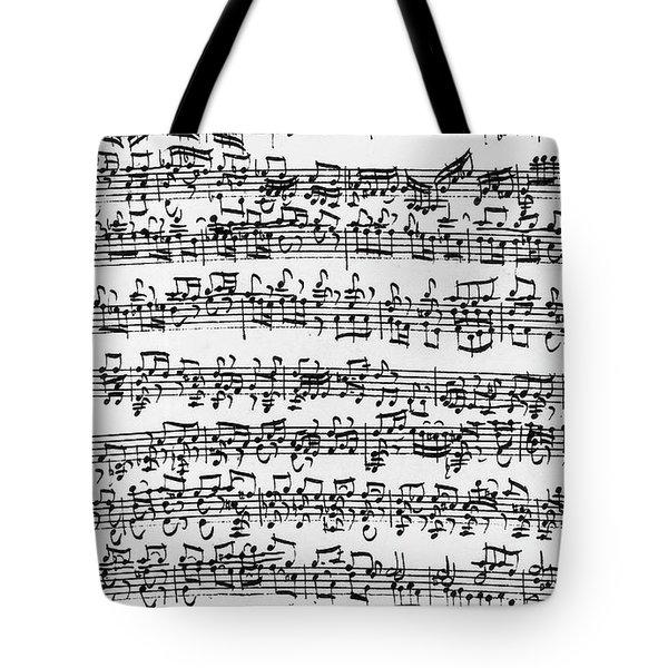 Handwritten Score Of Sonata No 1 For Solo Violin Tote Bag