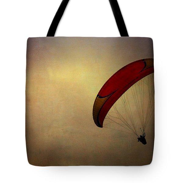 Hang Gliding In Peru Tote Bag