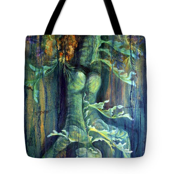 Tote Bag featuring the painting Hanged Man by Ashley Kujan