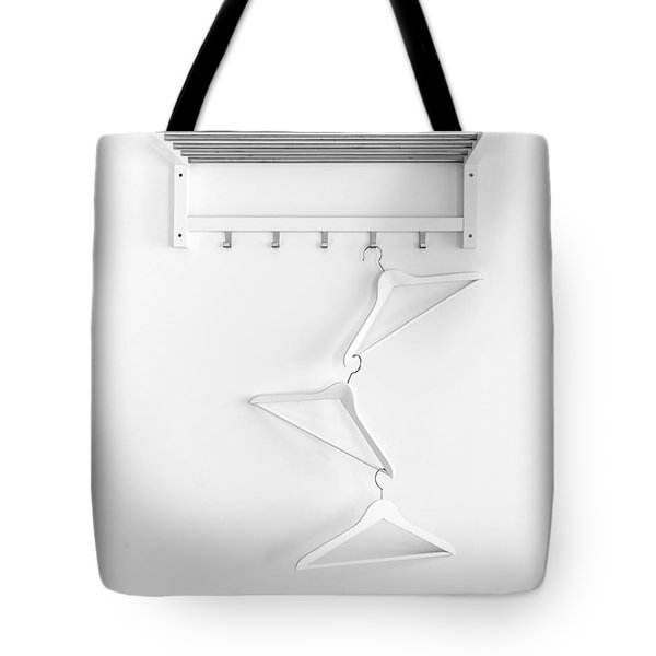 Tote Bag featuring the photograph Hangers No. 2 by Joe Bonita