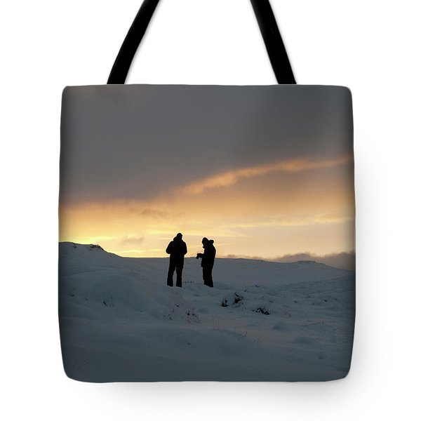 Tote Bag featuring the photograph Hanging Around Iceland by Dubi Roman