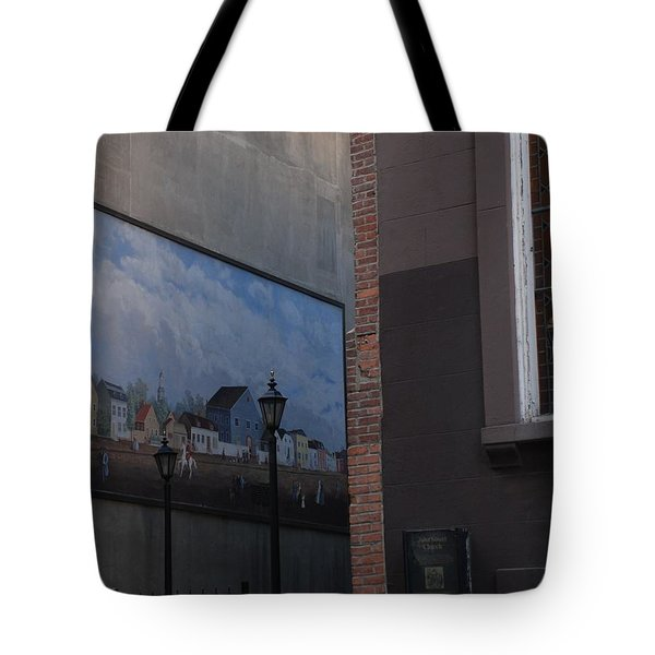Hanging Art In N Y C Tote Bag by Rob Hans