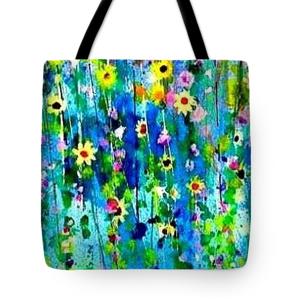 Hanging Bouquet Tote Bag