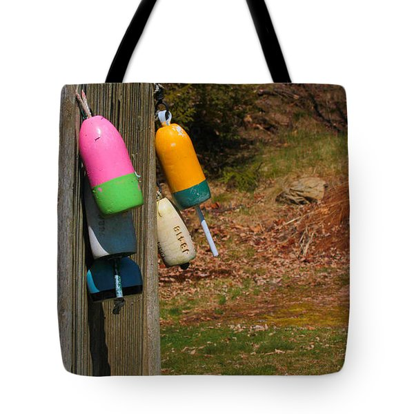 Tote Bag featuring the photograph Hanging Buoys by Debbie Stahre