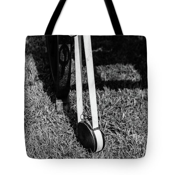 Tote Bag featuring the photograph Hanging Canteen by Doug Camara