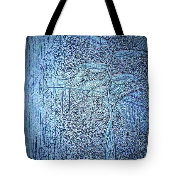 Hanging In Blue Tote Bag by Pamela Blizzard