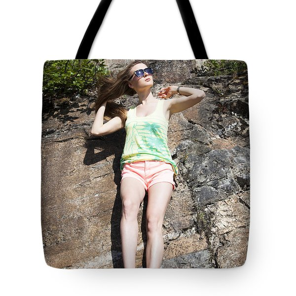 Hanging On The Rock Tote Bag