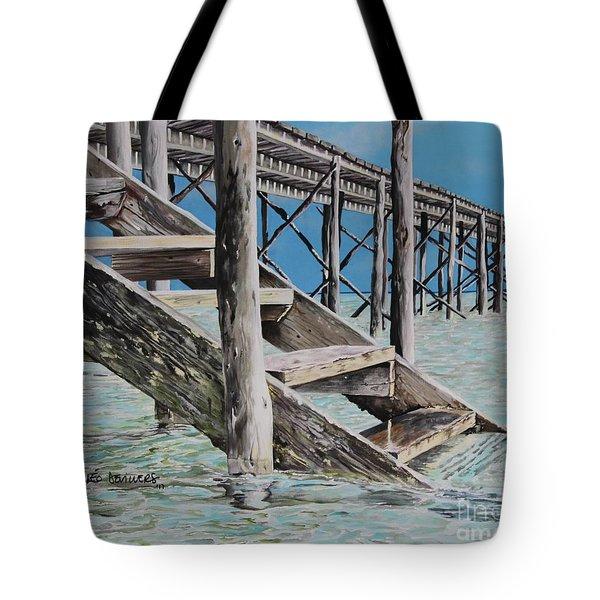 Hanging Out At Cherokee Long Dock Tote Bag