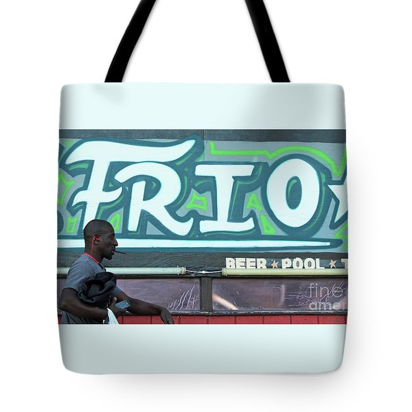Tote Bag featuring the photograph Hanging Out On Frio Street by Joe Jake Pratt
