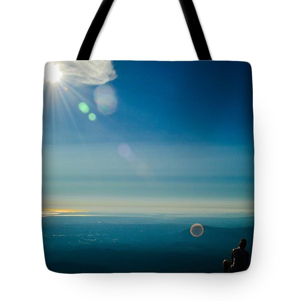 Hanging Out On The Summit Tote Bag