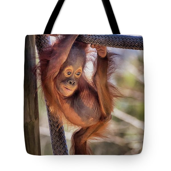 Hanging Out Tote Bag by Stephanie Hayes