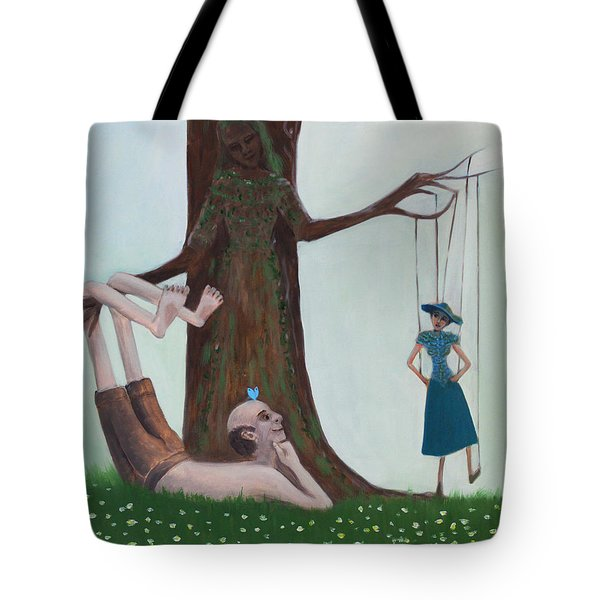 Hanging Out Tote Bag by Tone Aanderaa