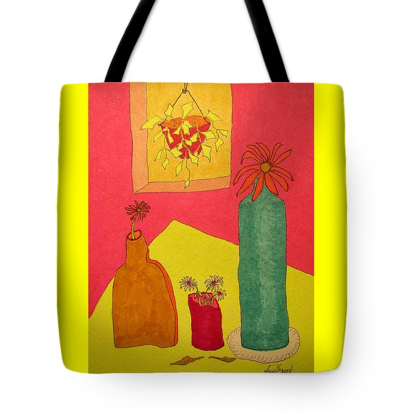 Hanging Plant And 3 On Table Tote Bag