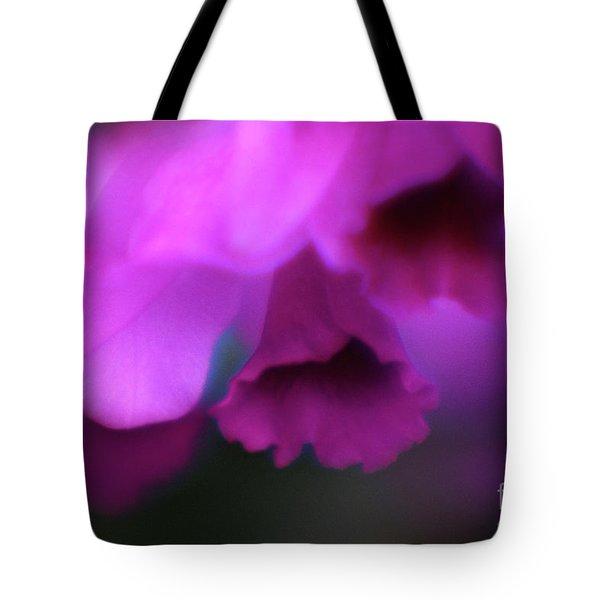 Hanging Purple Tropical Flowers Up Close- Kauai- Hawaii Tote Bag