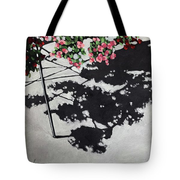 Hanging Shadows - Floral Tote Bag