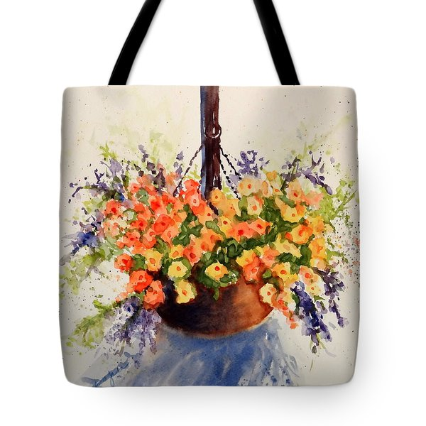 Hanging Spring Basket Tote Bag