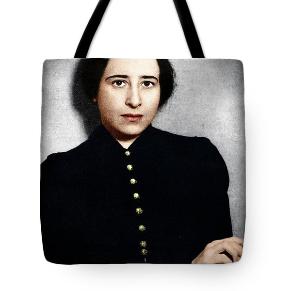 Tote Bag featuring the photograph Hannah Arendt by Granger