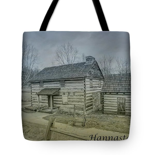 Tote Bag featuring the digital art Hannastown Log Cabin One by Randy Steele