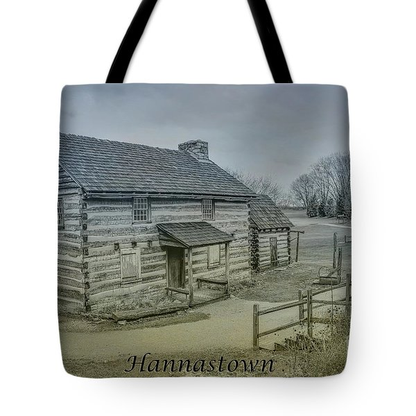 Tote Bag featuring the digital art Hannastown Log Cabin Two by Randy Steele
