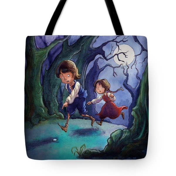 Hansel And Gretel Pebbles Tote Bag