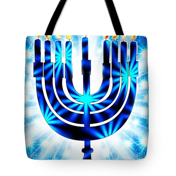 Hanukkah Greeting Card Ix Tote Bag by Aurelio Zucco