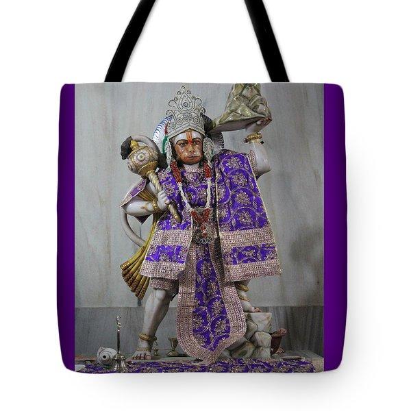Hanuman Ji, Neem Karoli Baba, Vrindavan Tote Bag by Jennifer Mazzucco
