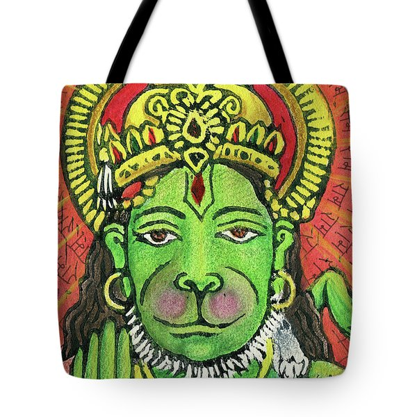 Hanuman Portrait  Tote Bag