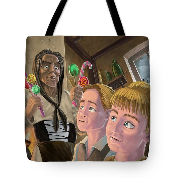 Hanzel And Gretel In Witches Kitchen Tote Bag by Martin Davey