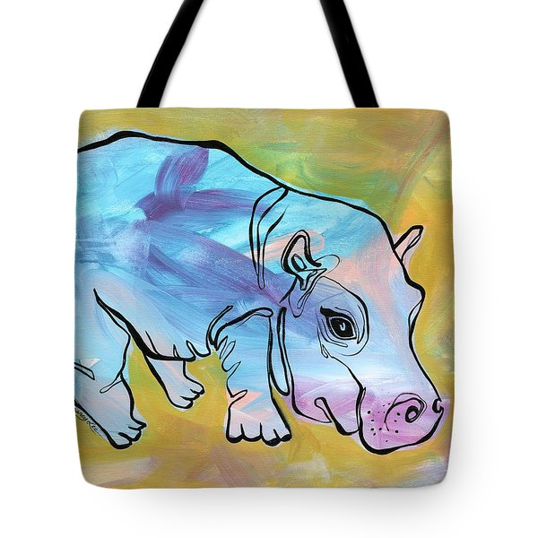 Happily Hippo Tote Bag