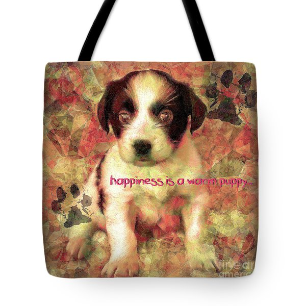 Tote Bag featuring the digital art Happiness 2016 by Kathryn Strick