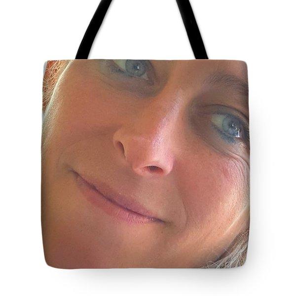 Happiness Begins Tote Bag