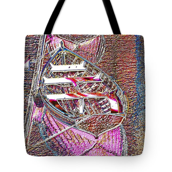 Happiness Is A Wooden Boat Tote Bag by Tim Allen