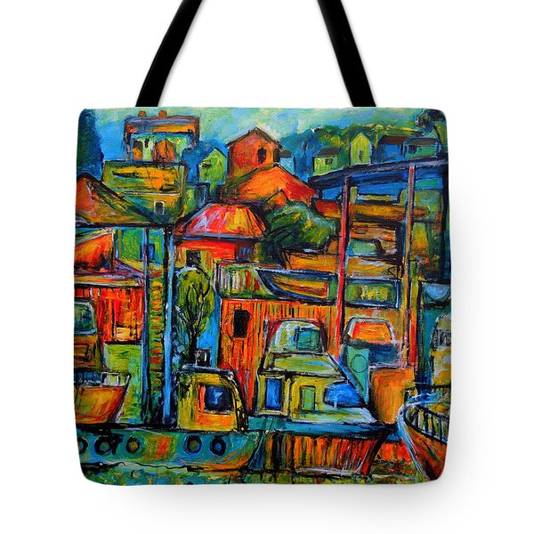 Tote Bag featuring the painting Happiness by Jeremy Holton