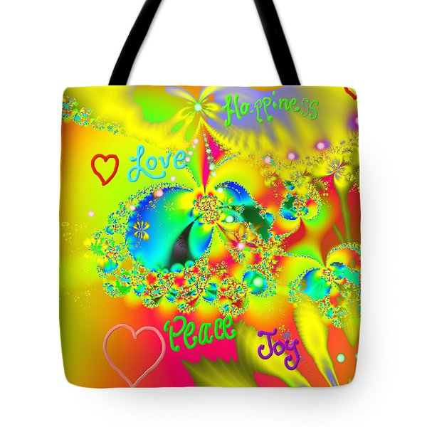 Tote Bag featuring the mixed media Happiness by Kevin Caudill