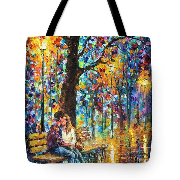 Happiness   Tote Bag by Leonid Afremov