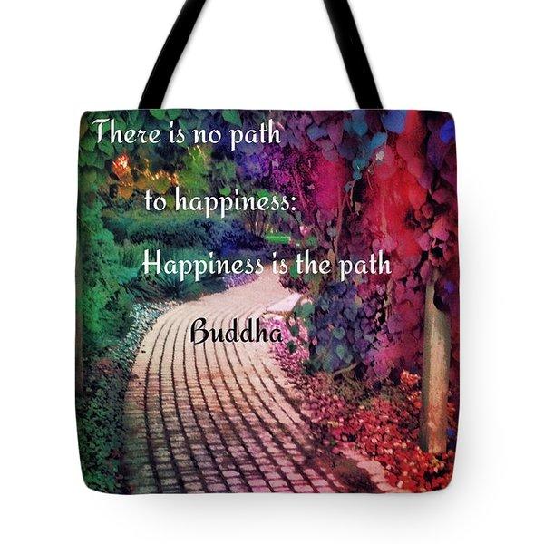 Happiness Path Tote Bag