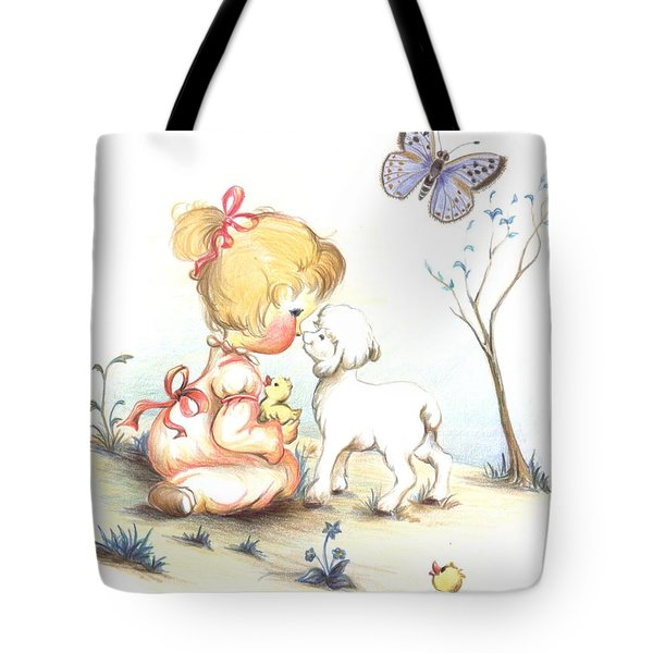 Tote Bag featuring the drawing Happiness by Sorin Apostolescu