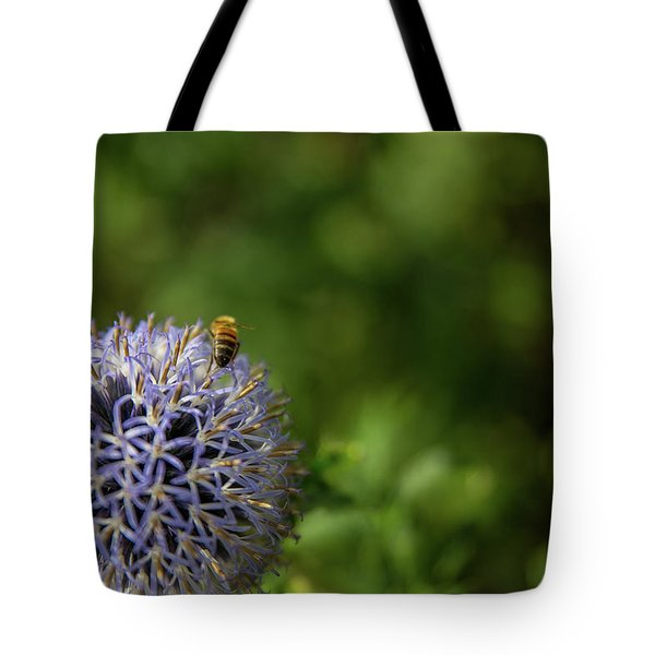 Tote Bag featuring the photograph Happy Bee by Lora Lee Chapman