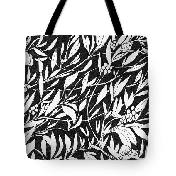 Tote Bag featuring the painting Happy Berries by Lou Belcher