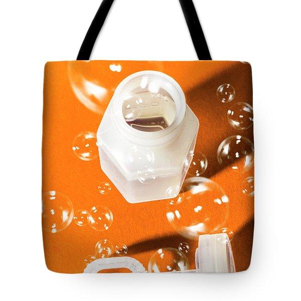 Happy Birthday Bubbles Tote Bag