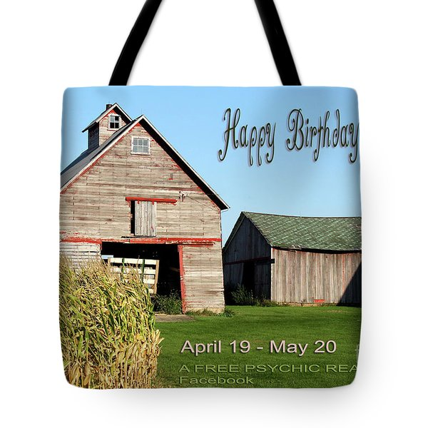 Tote Bag featuring the photograph Happy Birthday Taurus by Beauty For God