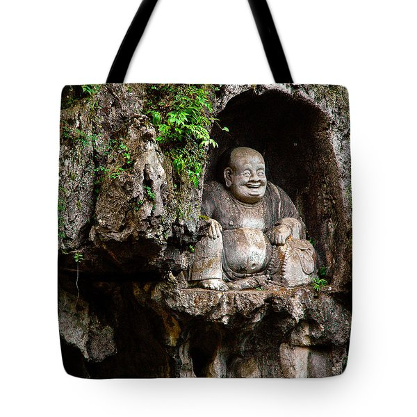 Happy Buddha Tote Bag by Harry Spitz
