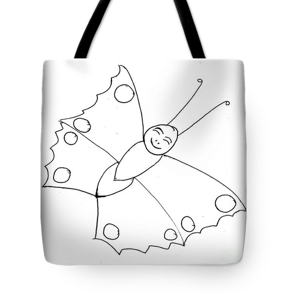 Happy Butterfly Tote Bag
