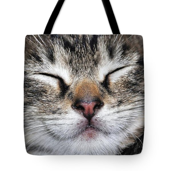 Happy Cat Tote Bag by JAMART Photography