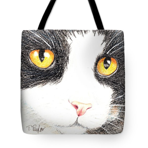 Happy Cat With The Golden Eyes Tote Bag
