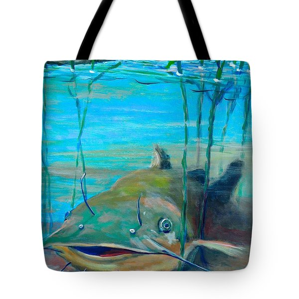 Happy Catfish Tote Bag