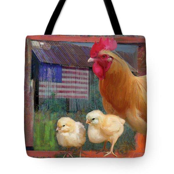 Happy Chicken  Tote Bag