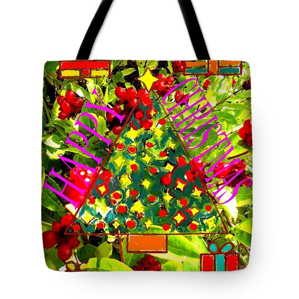 Happy Christmas 25 Tote Bag by Patrick J Murphy