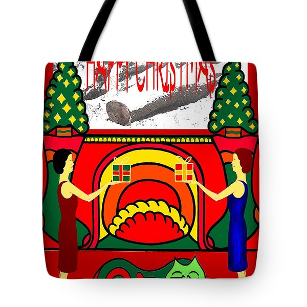Happy Christmas 32 Tote Bag by Patrick J Murphy
