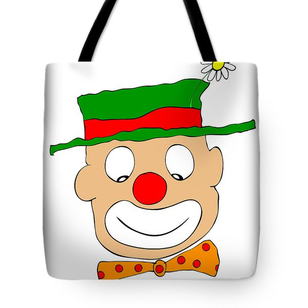 Happy Clown Tote Bag by Michal Boubin